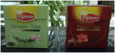 Photo of Lipton green tea and red tea